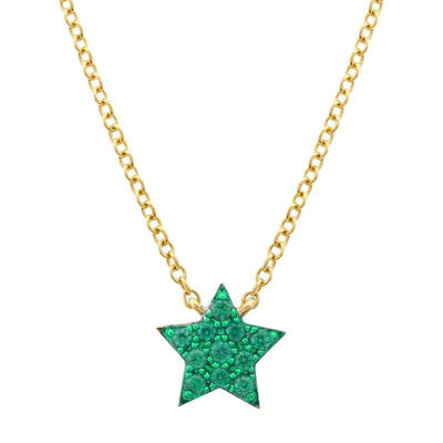 Green Tsavolite Star Necklace 14K by Kury - Available at SHOPKURY.COM. Free Shipping on orders over $200. Trusted jewelers since 1965, from San Juan, Puerto Rico.