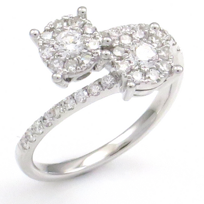 .67ct Diamond Couple Ring by MIMI - Available at SHOPKURY.COM. Free Shipping on orders over $200. Trusted jewelers since 1965, from San Juan, Puerto Rico.