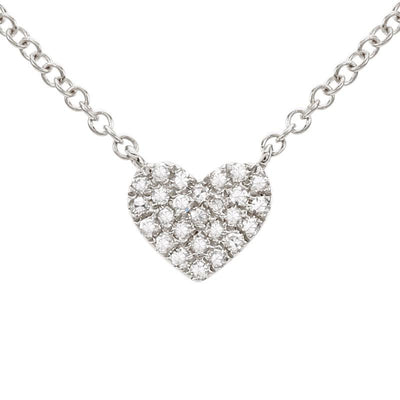 Full Diamond Heart Necklace - Kury Jewelry