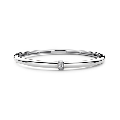 Silver Shine in the Middle Bracelet - SHOPKURY.COM