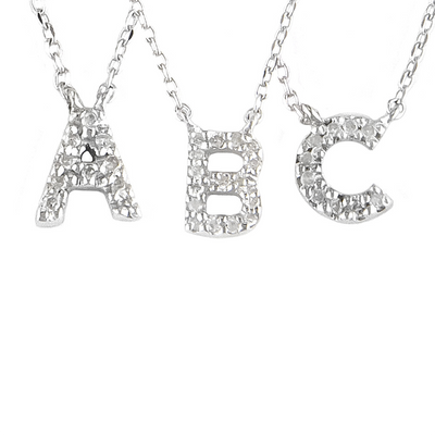 Mini Diamond Initial Necklace - SHOPKURY.COM