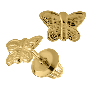 14K Kids Butterfly Stud Earrings by Kury - Available at SHOPKURY.COM. Free Shipping on orders over $200. Trusted jewelers since 1965, from San Juan, Puerto Rico.