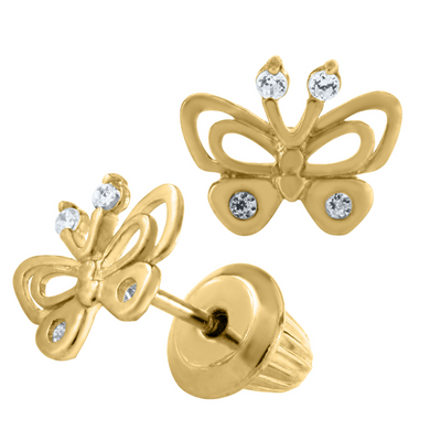 Fun Butterfly 14K Stud Earrings by Kury - Available at SHOPKURY.COM. Free Shipping on orders over $200. Trusted jewelers since 1965, from San Juan, Puerto Rico.