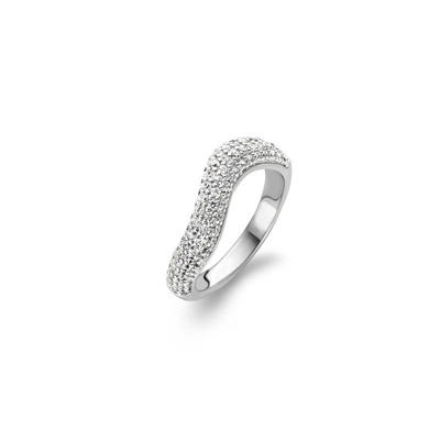 Waving Radiance Ring by Ti Sento - Available at SHOPKURY.COM. Free Shipping on orders over $200. Trusted jewelers since 1965, from San Juan, Puerto Rico.