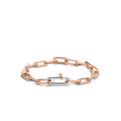Rose Paper Clip Bracelet by Ti Sento - Available at SHOPKURY.COM. Free Shipping on orders over $200. Trusted jewelers since 1965, from San Juan, Puerto Rico.