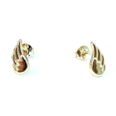 Angel Wings Stud Earrings 14K by Kury - Available at SHOPKURY.COM. Free Shipping on orders over $200. Trusted jewelers since 1965, from San Juan, Puerto Rico.