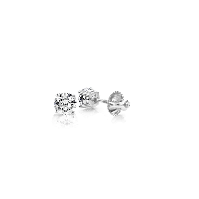 .33ct Diamond Solitaire Stud Earrings 14K - Kury Jewelry