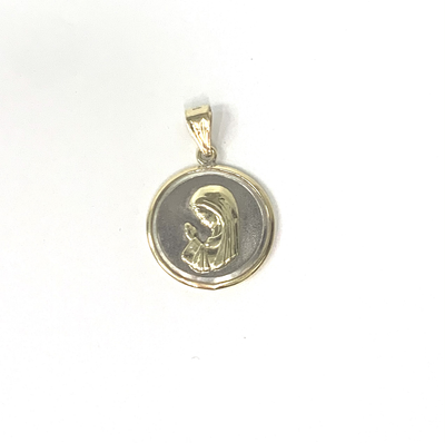 Virgen Nina Medal by Kury - Available at SHOPKURY.COM. Free Shipping on orders over $200. Trusted jewelers since 1965, from San Juan, Puerto Rico.