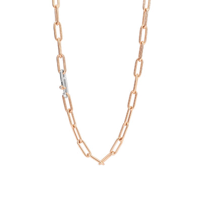 Rose Paperclip Necklace by Ti Sento - Available at SHOPKURY.COM. Free Shipping on orders over $200. Trusted jewelers since 1965, from San Juan, Puerto Rico.