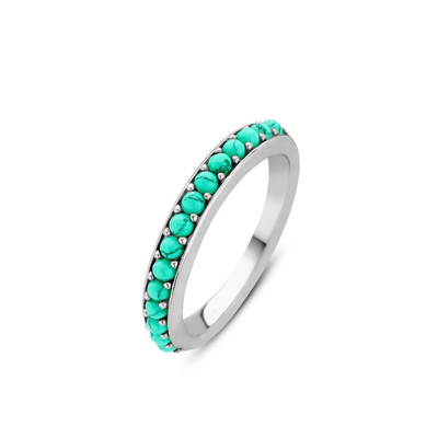 Radiant Turquoise Ring by Ti Sento - Available at SHOPKURY.COM. Free Shipping on orders over $200. Trusted jewelers since 1965, from San Juan, Puerto Rico.
