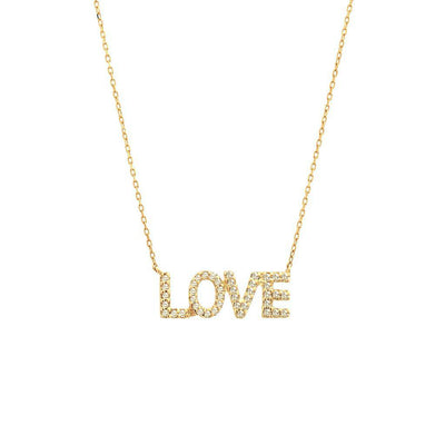 LOVE Diamond Necklace by Kury - Available at SHOPKURY.COM. Free Shipping on orders over $200. Trusted jewelers since 1965, from San Juan, Puerto Rico.