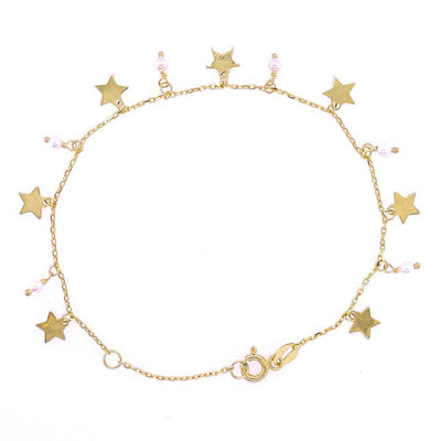 Pearls and Stars 14K Yellow Gold Bracelet by Kury - Available at SHOPKURY.COM. Free Shipping on orders over $200. Trusted jewelers since 1965, from San Juan, Puerto Rico.