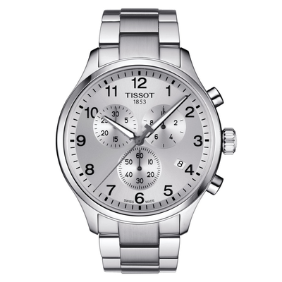 Chrono XL Silver 45MM by Tissot - Available at SHOPKURY.COM. Free Shipping on orders over $200. Trusted jewelers since 1965, from San Juan, Puerto Rico.