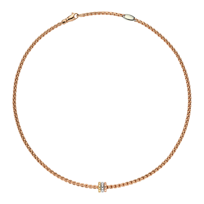 Rose Gold Necklace Tricolor Charm - SHOPKURY.COM