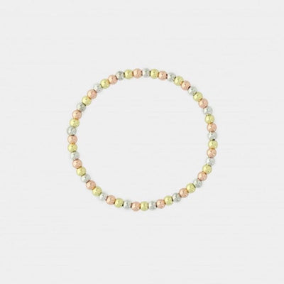 Tri Color 4mm Bead Bracelet - SHOPKURY.COM