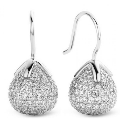 Pave Flowerbud Earrings - SHOPKURY.COM