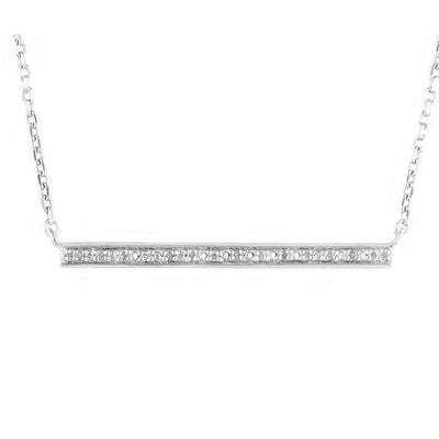 Sparkling Bar Necklace by Kury - Available at SHOPKURY.COM. Free Shipping on orders over $200. Trusted jewelers since 1965, from San Juan, Puerto Rico.