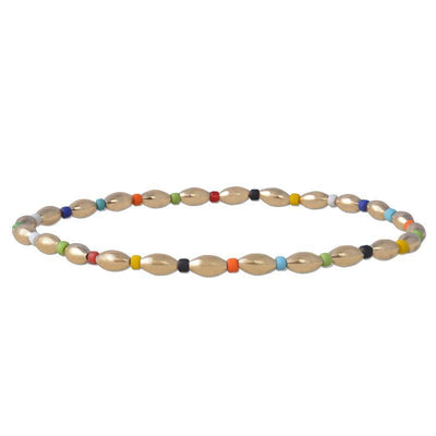 Alternating Oval Multi Color Beads Bracelet - SHOPKURY.COM