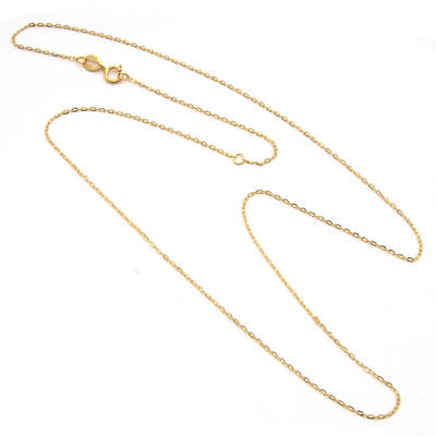 14K Yellow Gold Chain 16-18'' by Kury - Available at SHOPKURY.COM. Free Shipping on orders over $200. Trusted jewelers since 1965, from San Juan, Puerto Rico.