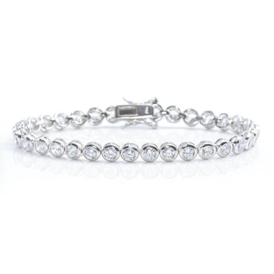 5MM Silver Tennis Bracelet by Kury - Available at SHOPKURY.COM. Free Shipping on orders over $200. Trusted jewelers since 1965, from San Juan, Puerto Rico.