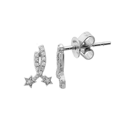 Shooting Stars Stud Diamond Earrings by Kury - Available at SHOPKURY.COM. Free Shipping on orders over $200. Trusted jewelers since 1965, from San Juan, Puerto Rico.