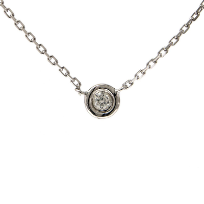 Silver Diamond Necklace by Kury - Available at SHOPKURY.COM. Free Shipping on orders over $200. Trusted jewelers since 1965, from San Juan, Puerto Rico.
