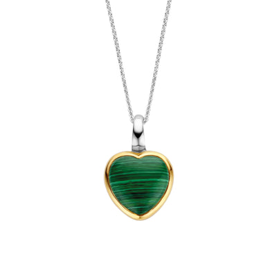 Green Malachite Heart Necklace by Ti Sento - Available at SHOPKURY.COM. Free Shipping on orders over $200. Trusted jewelers since 1965, from San Juan, Puerto Rico.