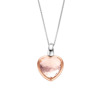 Pink Heart Necklace by Ti Sento - Available at SHOPKURY.COM. Free Shipping on orders over $200. Trusted jewelers since 1965, from San Juan, Puerto Rico.