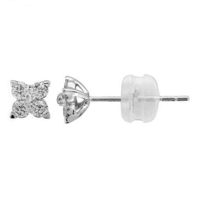 .22ct Flower Diamond Earrings by Kury - Available at SHOPKURY.COM. Free Shipping on orders over $200. Trusted jewelers since 1965, from San Juan, Puerto Rico.
