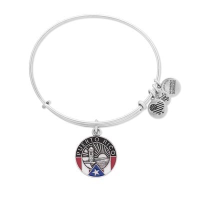 Puerto Rico Bangle by Alex and Ani - Available at SHOPKURY.COM. Free Shipping on orders over $200. Trusted jewelers since 1965, from San Juan, Puerto Rico.