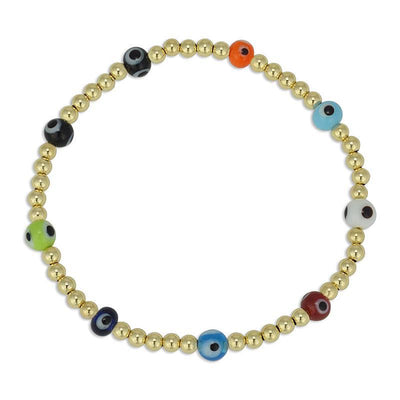 Evil Eye Bead Bracelet by Kury - Available at SHOPKURY.COM. Free Shipping on orders over $200. Trusted jewelers since 1965, from San Juan, Puerto Rico.