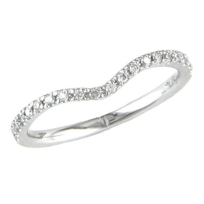 .13ct Diamond Curved Band by Kury Bridal - Available at SHOPKURY.COM. Free Shipping on orders over $200. Trusted jewelers since 1965, from San Juan, Puerto Rico.