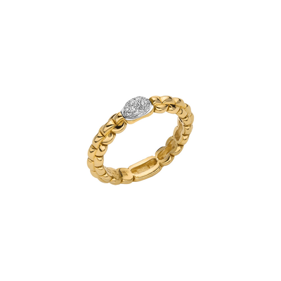 Yellow Gold Pave Ring - SHOPKURY.COM