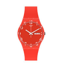 over red by Swatch - Available at SHOPKURY.COM. Free Shipping on orders over $200. Trusted jewelers since 1965, from San Juan, Puerto Rico.