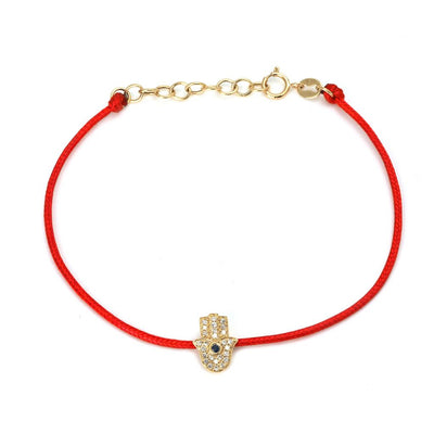 Hamsa Diamond Cord Bracelet by Kury - Available at SHOPKURY.COM. Free Shipping on orders over $200. Trusted jewelers since 1965, from San Juan, Puerto Rico.