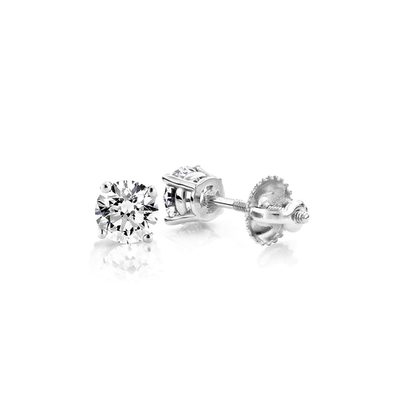 .50ct Solitaire Diamond Stud Earrings 14K - Kury Jewelry