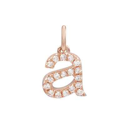 6MM Diamond Initial Rose Gold Pendant by Kury - Available at SHOPKURY.COM. Free Shipping on orders over $200. Trusted jewelers since 1965, from San Juan, Puerto Rico.