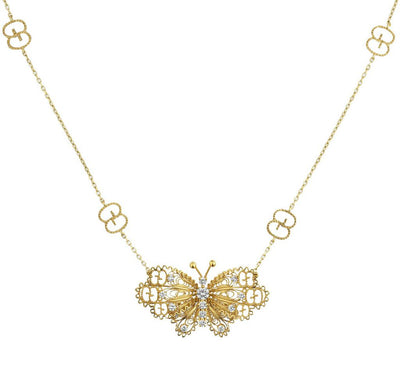 Butterfly Necklace by Gucci Jewelry - Available at SHOPKURY.COM. Free Shipping on orders over $200. Trusted jewelers since 1965, from San Juan, Puerto Rico.