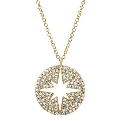 Star Diamond Compass Necklace by Kury - Available at SHOPKURY.COM. Free Shipping on orders over $200. Trusted jewelers since 1965, from San Juan, Puerto Rico.
