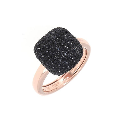 Polvere Cushion Rose/Black Ring Large by Pesavento - Available at SHOPKURY.COM. Free Shipping on orders over $200. Trusted jewelers since 1965, from San Juan, Puerto Rico.