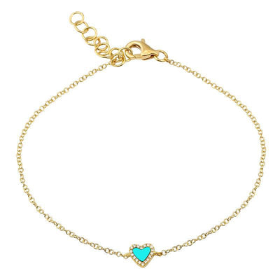 Turquoise Heart Bracelet by Kury - Available at SHOPKURY.COM. Free Shipping on orders over $200. Trusted jewelers since 1965, from San Juan, Puerto Rico.