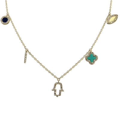 Lucky Charms 14K Necklace by Kury - Available at SHOPKURY.COM. Free Shipping on orders over $200. Trusted jewelers since 1965, from San Juan, Puerto Rico.