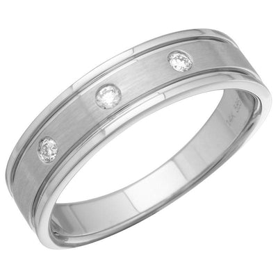 Brushed and Polished Edges Diamond Ring by Kury Bridal - Available at SHOPKURY.COM. Free Shipping on orders over $200. Trusted jewelers since 1965, from San Juan, Puerto Rico.
