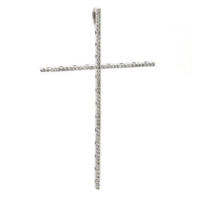 Tall Diamond Cross Pendant by Kury - Available at SHOPKURY.COM. Free Shipping on orders over $200. Trusted jewelers since 1965, from San Juan, Puerto Rico.