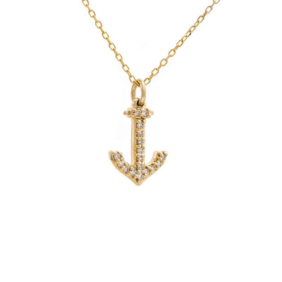 Diamond Anchor Necklace by Kury - Available at SHOPKURY.COM. Free Shipping on orders over $200. Trusted jewelers since 1965, from San Juan, Puerto Rico.