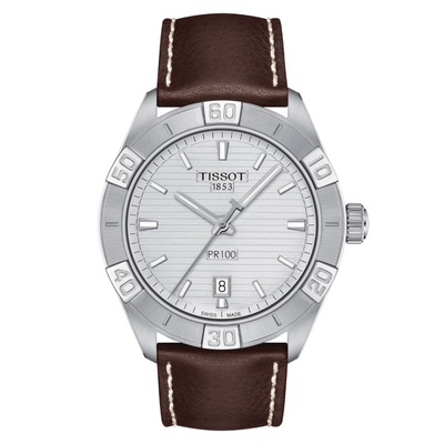 PR 100 Sport Gent Brown by Tissot - Available at SHOPKURY.COM. Free Shipping on orders over $200. Trusted jewelers since 1965, from San Juan, Puerto Rico.