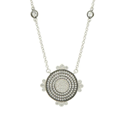 Pave Disk Necklace - SHOPKURY.COM