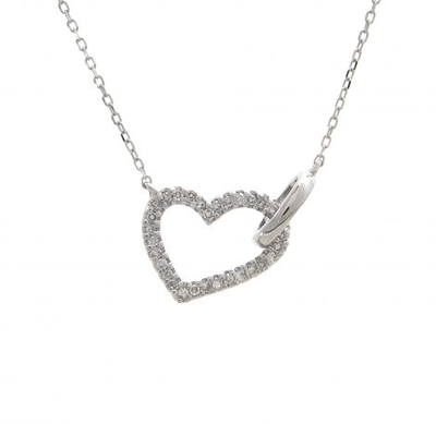 Diamond Heart Necklace - SHOPKURY.COM