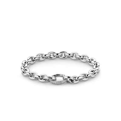 Links CZ Bracelet by Ti Sento - Available at SHOPKURY.COM. Free Shipping on orders over $200. Trusted jewelers since 1965, from San Juan, Puerto Rico.