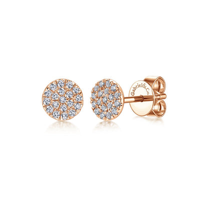 .14CT Rose Gold Stud Earrings - Kury Jewelry
